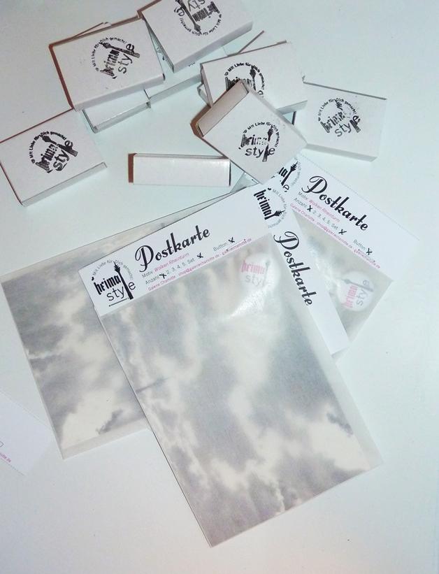 Heimatstyle Buttons mit Postkarte