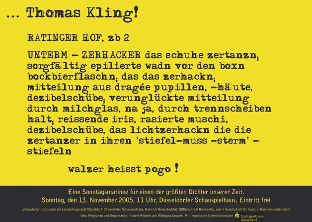Poster Thomas Kling